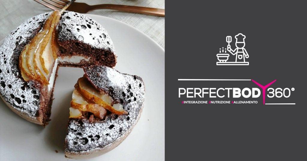 Mini-Cake Cioccolato-e pera con cuore allo yougurt
