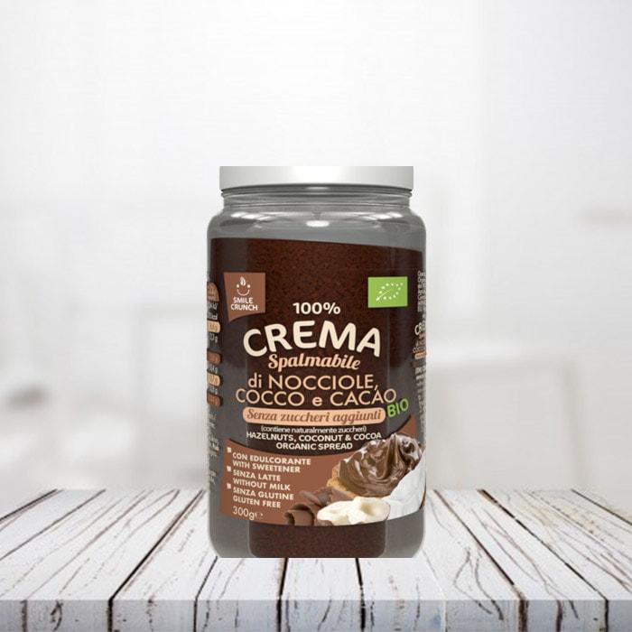 Crema di Nocciole, Cocco e Cacao Bio