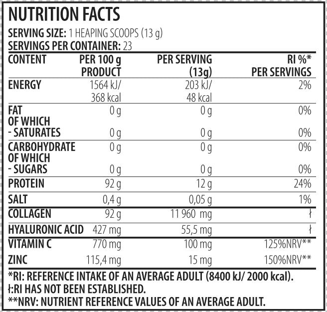 collagen ingredienti
