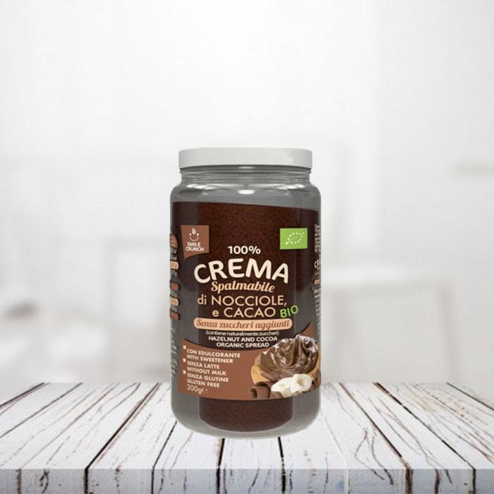 100% Crema di Nocciole e Cacao Bio