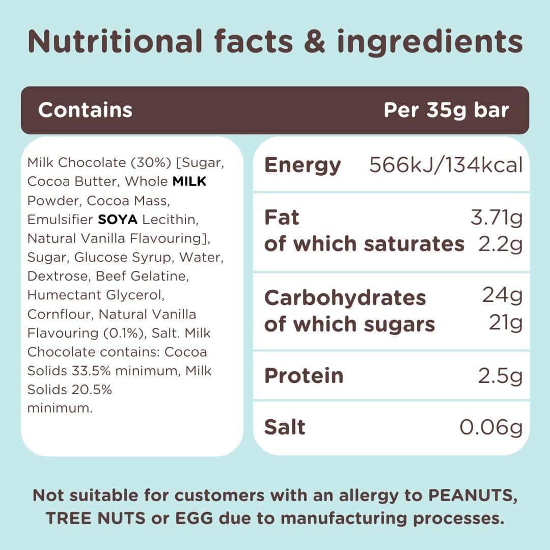 Ingredienti Marsh mallow bar