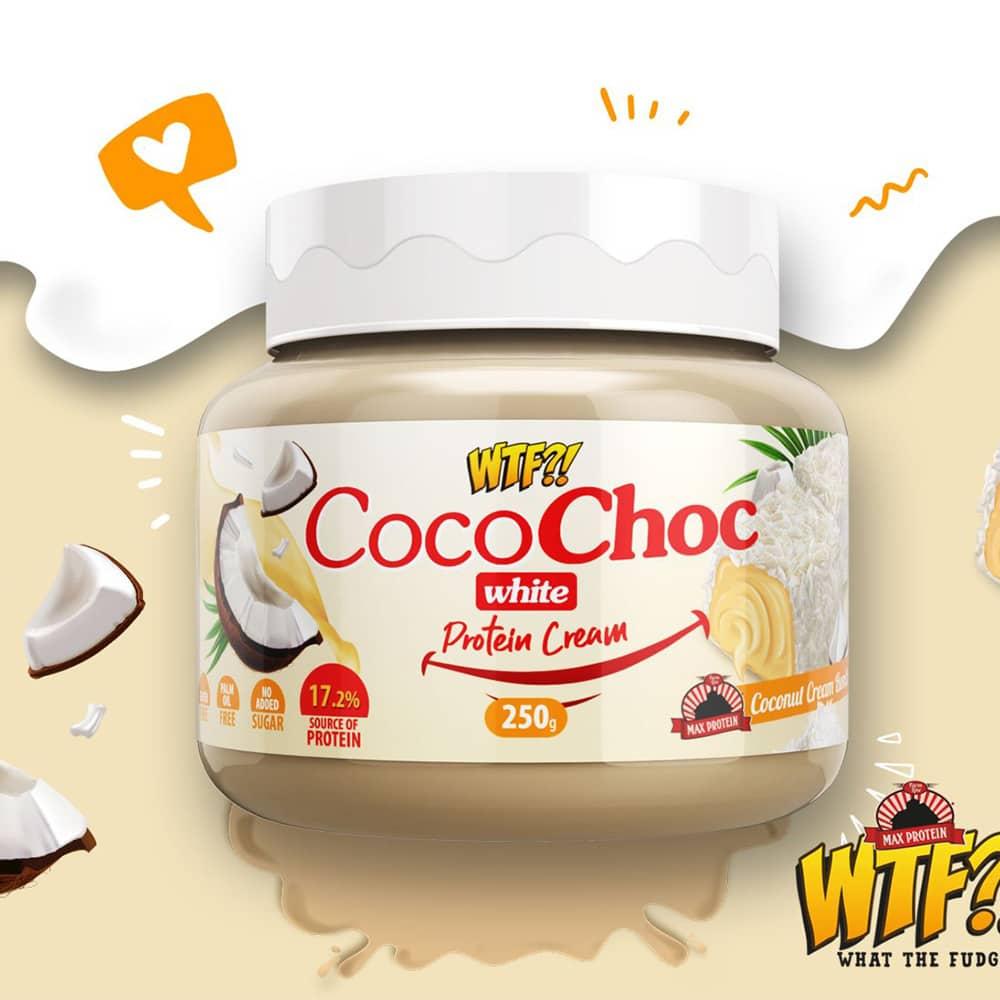 WTF Coco Choc White Protein Cream