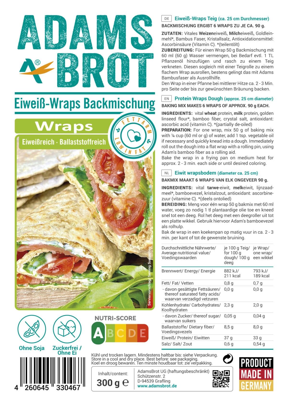 Wrap Low Carb Adams Brot