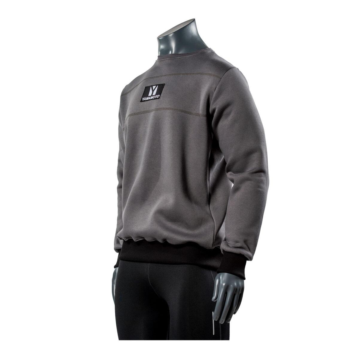 Black Patch Sweatshirt Colore: Grigio