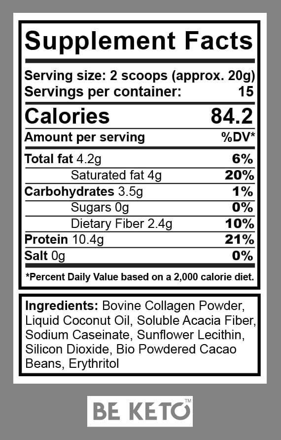 Informazioni nutrizionali collagen