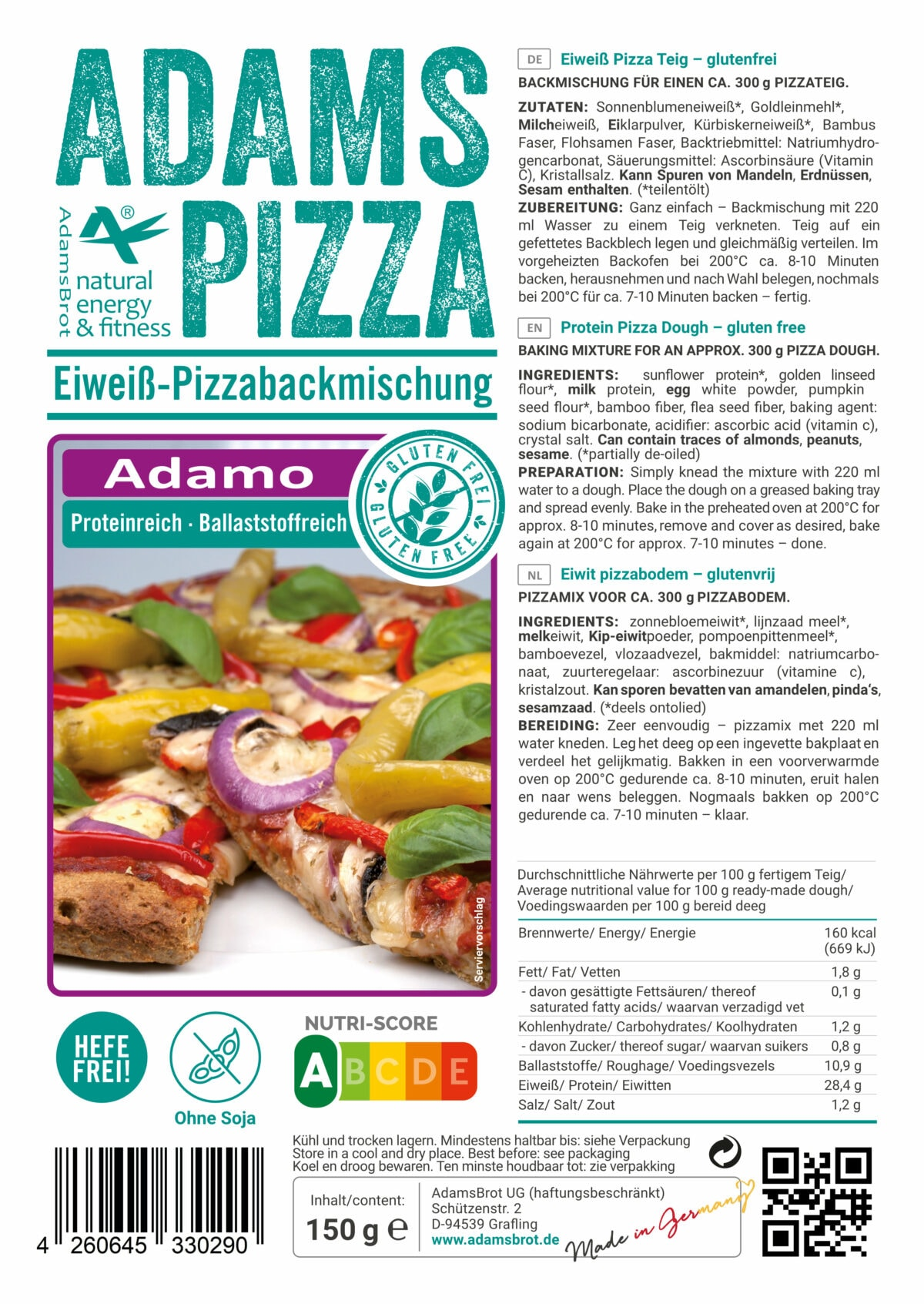 Preparato per pizza low carb Adams Brot.jpg