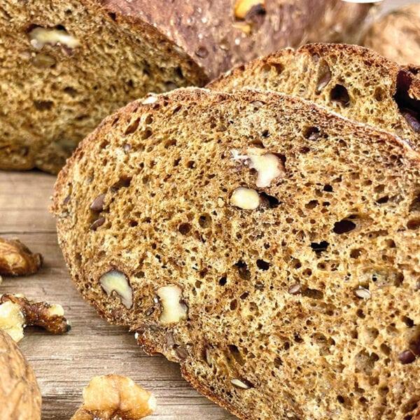Preparato per pane ad alto contenuto di fibre e basso contenuto di carboidrati* con molte proteine, anche senza soia.